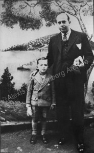 1933 With his father