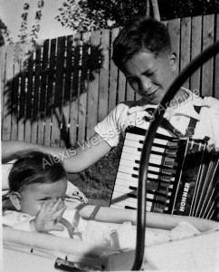 1940 With his accordion