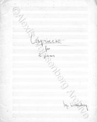 Capriccio Cover