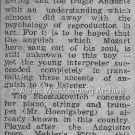 1946 Tel Aviv Mozart Shostakovich