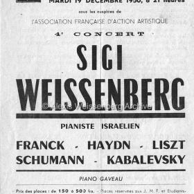 1950 December 19 Loose programme front