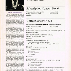 1976 November Programme Minnesota