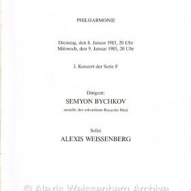 1984 Programme Berlin 1