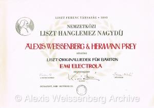 Franz Liszt Society EMI Award