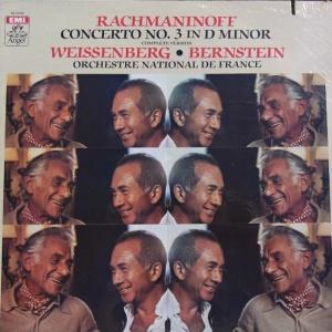 Rachmaninov. Piano Concerto no. 3. Weissenberg, Bernstein. 1 LP. Angel f