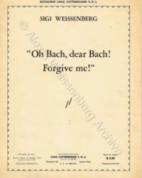 1948 'Oh Bach, dear Bach, forgive me!' Cover