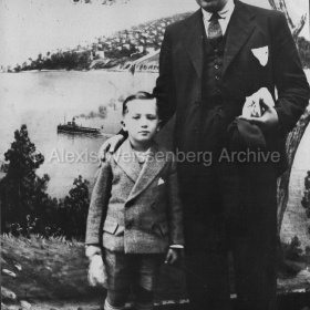 1935 With his father