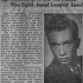 1947 New York Times Leventritt Award 3