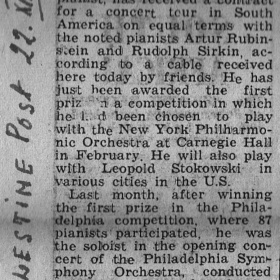 1947 Palestine Post Tour