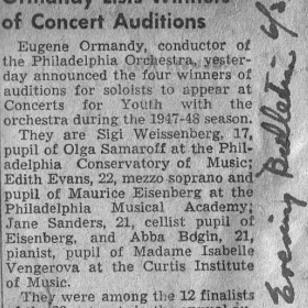1947 The Philadelphia Competition. The Evening Bulletin