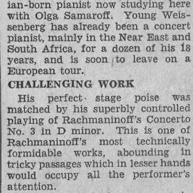 1947 Philadelphia Inquirer Rachmaninov 3rd with Ormandy 1