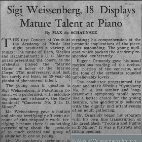 1947 Philadelphia Inquirer Rachmaninov 3rd with Ormandy 2
