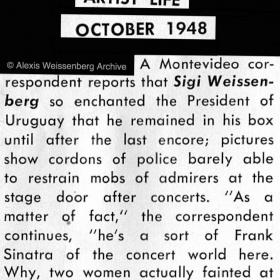 1948 Artist Life. A sort of Frank Sinatra