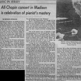 1984 New Jersey Chopin Recital