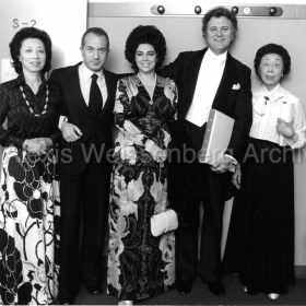 With Nicolai Gedda, Anastasia Gedda and Michi Murayama in Osaka