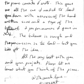 1991 Chick Corea letter back