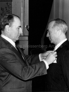 With François Mitterrand at the Légion d'Honneur Ceremony 1984