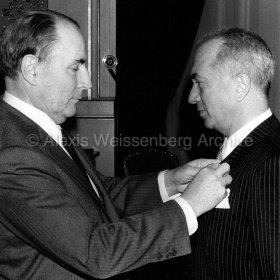 With François Mitterand at the Legion d'Honneur Ceremony 1984