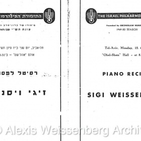 1950 June 12 Tel Aviv Recital 2