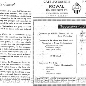 1950 June 4 Tel Aviv Bernstein Programme