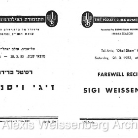 1953 March 28 Farewell Recital 1