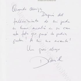 Letter from Daniel Barenboim