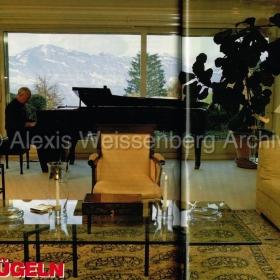 1992 at home in Kastanienbaum, Lucerne