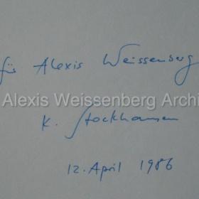 Stockhausen Klavierstück XII