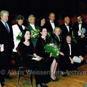 At the Clara Schumann International Competition, with B. Bloch, N. Freire, V. Ashkenazy, among others. 1994