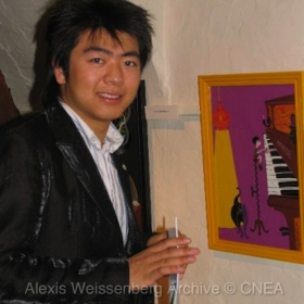 Lang Lang at Alexis Weissenberg Collages Exhibition in Paris 2005