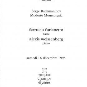 1995 Recital with Ferruccio Furlanetto Paris