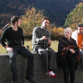 Simon Mulligan, Roger Rüegger, Beatrice Hodel and Raphael Lustchevsky in Engelberg