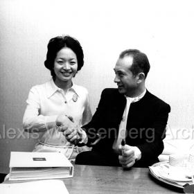 1972 in Japan with a beautiful fan