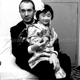 1972 in Japan with a little girl