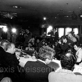 1977 in Osaka Press Conference with Karajan