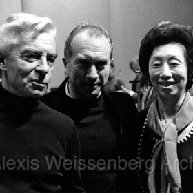 1977 in Osaka with Michi Murayama and Karajan