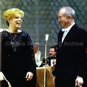1988 in Sofia with Mirella Freni
