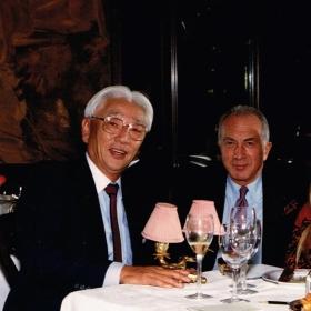 1990 With Akio Morita in Tokyo