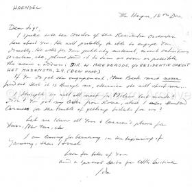 Letter from Ida Haendel