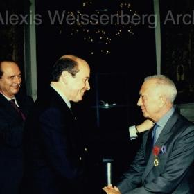 1994 Ceremony of Promotion to Officier de la Légion d'Honneur, with Minister J.Toubon and Mayor J. Chirac
