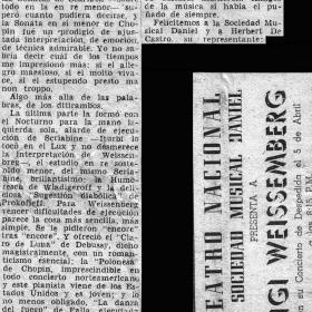1948 Panama Diario Independiente Recital Teatro Nacional 2