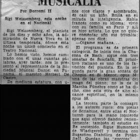 1948 Panama Diario Independiente Recital Teatro Nacional