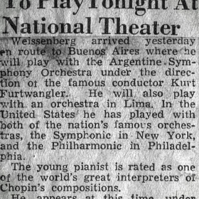 1948 Panama Recital Teatro Nacional