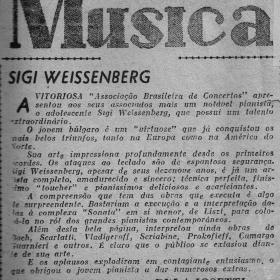 1948 Rio de Janeiro Recital Teatro Municipal