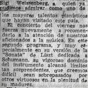 1948 Santiago de Chile Recital Teatro Municipal 2