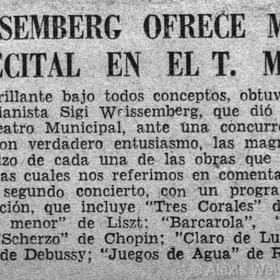 1948 Santiago de Chile Recital Teatro Municipal