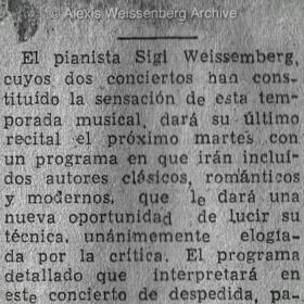 1948 Santiago de Chile Recital Teatro Municipal 3