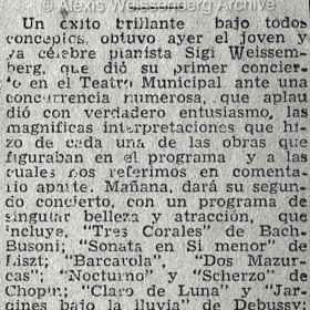 1948 Santiago de Chile Recital Teatro Municipal 4