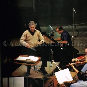 1977 Rehearsing in Osaka with Karajan