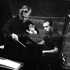 1977 Rehearsal in Osaka with Karajan